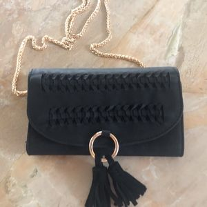 Black Swede Wallet on a Chain from Anthropologie